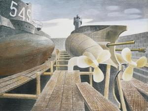 Submarines in Dry Dock by Eric Ravilious