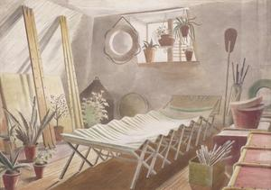 The Attic Bedroom, Brick House, Great Bardfield by Eric Ravilious