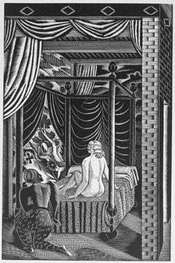 The Bed Chamber, from 'The Famous Tragedy of the Rich Jew of Malta', Written by Christopher Marlowe by Eric Ravilious