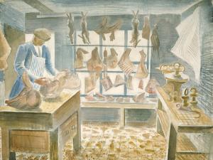 The Butcher's Shop by Eric Ravilious
