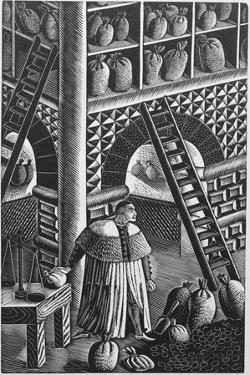 The Grain Store, from 'The Famous Tragedy of the Rich Jew of Malta', Written by Christopher Marlowe by Eric Ravilious