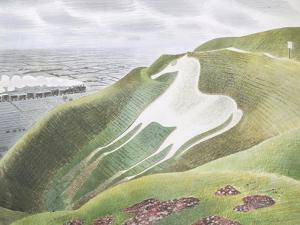 The Westbury Horse by Eric Ravilious