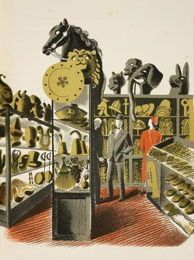 Theatrical Costume and Prop Hire Shop by Eric Ravilious