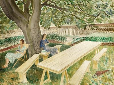 Two Women Sitting in a Garden, 1933