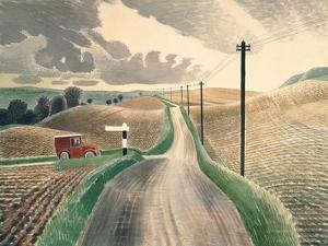 Wiltshire Landscape by Eric Ravilious