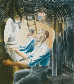 Working Controls While Submerged, 1941 by Eric Ravilious