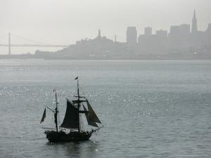 Hawaiian Chieftan, Tallship Saling on the San Francisco Bay, c.2007 by Eric Risberg