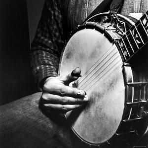Country Music: Close Up of Banjo Being Played by Eric Schaal