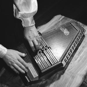Hands of Sara Carter of the Legendary Carter Family Musicians, Fingering an Autoharp by Eric Schaal