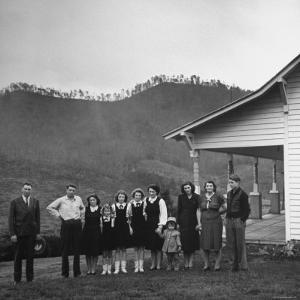 Legendary Country Western Music Carter Family: A.P. and Ezra with Family by Eric Schaal