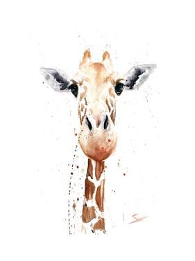 Giraffe Watercolor by Eric Sweet