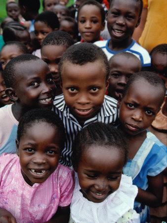 Group of Schoolchildren, Mombasa, Kenya