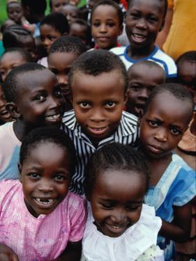 Group of Schoolchildren, Mombasa, Kenya by Eric Wheater