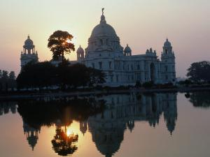 Victoria Monument Reflected in River, Kolkata, India by Eric Wheater