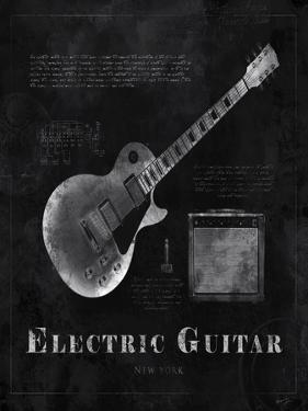 Black Print Electric Guitar by Eric Yang