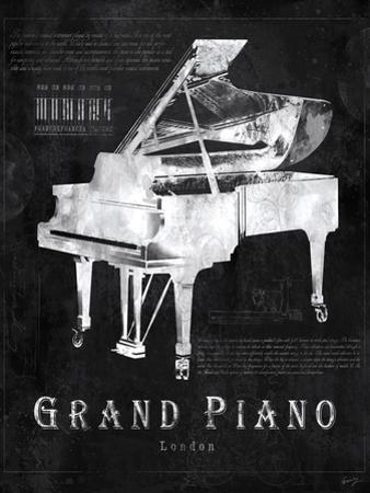 Black Print Grand Piano by Eric Yang