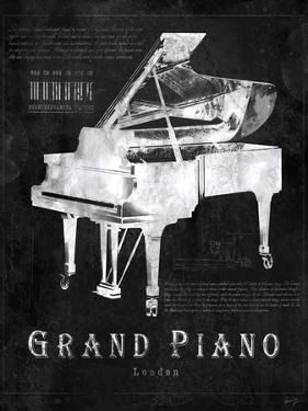 Black Print Grand Piano by Eric Yang