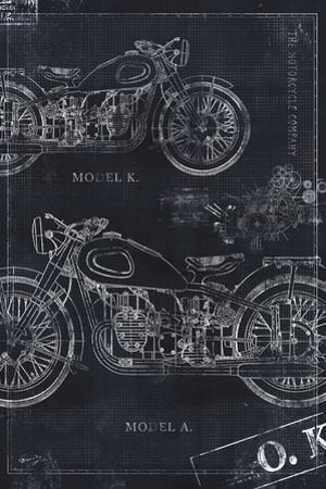 Motorcycle Co. Blueprint Black II by Eric Yang