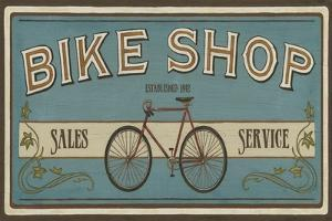 Bike Shop I by Erica J^ Vess