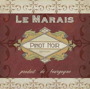 Burgundy Wine Labels I by Erica J^ Vess