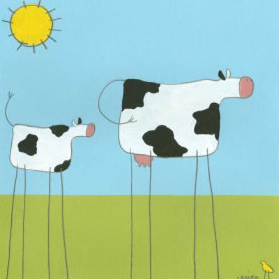 Stick-Leg Cow I by Erica J. Vess