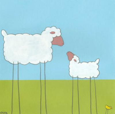 Stick-Leg Sheep I by Erica J. Vess