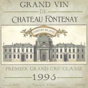 Vintage Wine Labels IX by Erica J. Vess