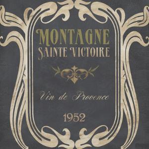 Vintage Wine Labels V by Erica J^ Vess