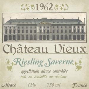 Vintage Wine Labels VII by Erica J^ Vess
