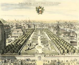 Formal Garden View I by Erich Dahlbergh