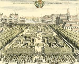 Formal Garden View III by Erich Dahlbergh