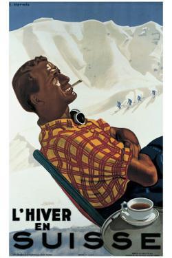 L'Hiver en Suisse by Erich Hermes