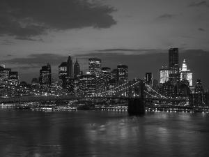 Brooklyn Bridge And Nyc Skyline At Sunset by ericro