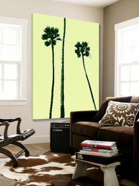 Palm Trees 2000 (Cyan) by Erik Asla
