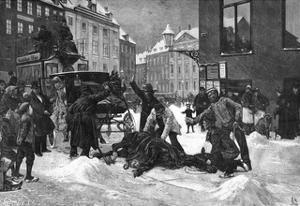 Cabhorse Slips on Ice by Erik Henningsen