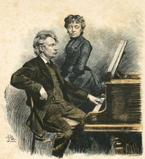 Grieg and His Wife by Erik Henningsen
