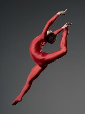 Ballet Dancer in Red Leotard by Erik Isakson