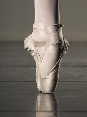 Feet of Ballet Dancer En Pointe