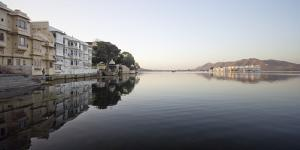 A Reflected View of Lake Pichola and the Famous Floating Lake Palace in Udaipur, India by Erik Kruthoff