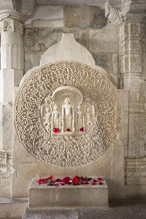Ornate Marble Carving Of The Famous Jain Temple Ranakpur Located In Rural Rajasthan, India