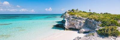 Turquoise Blue Waters, Dramatic Limestone Cliffs, At Lighthouse Point, Island Of Eleuthera, Bahamas