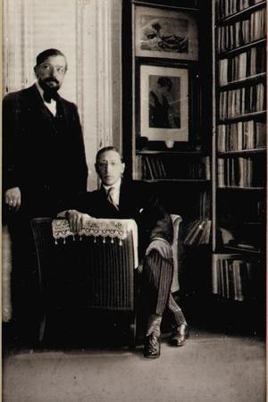 Portrait of Igor Stravinsky and Claude Debussy at the Time of the Diaghilev Ballets 'Jeux' and…