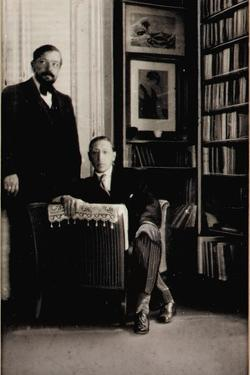 Portrait of Igor Stravinsky and Claude Debussy at the Time of the Diaghilev Ballets 'Jeux' and… by Erik Satie