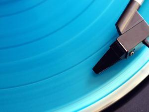 Blue Vinyl Record by Erik T Witsoe