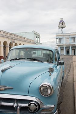 A Vintage Chevrolet in Plaza Jose Marti, Cienfuegos, Cuba by Erika Skogg