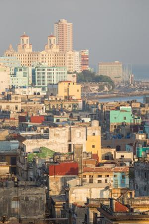 Buildings in Havana, Cuba with the Gulf of Mexico in the Background by Erika Skogg