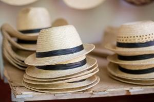 Stacks of Cuban Hats with Black Rim by Erika Skogg