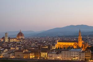 Sunrise over Florence, Including Santa Maria Del Fiore Cathedral, and the Basilica of Santa Croce by Erika Skogg