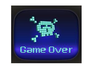 Game Over, Tv Game. Skull and Crossbones by eriksvoboda