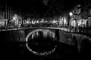B&W Canal at Night II by Erin Berzel